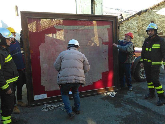 Terremoto: messo in salvo vessillo Battaglia Lepanto a Spelonga