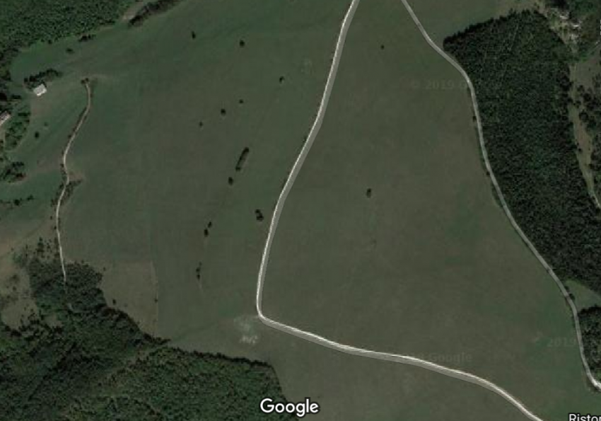la mappa di Google evidenzia la vastità del prato